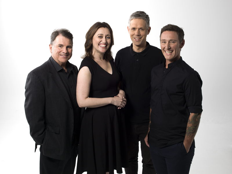 The Hub team for 2018: Michael Cathcart, Claire Nichols, Jason Di Rosso and Eddie Ayres