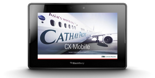 Cathay Pacific Airways launches the world's first customised airline application for Blackberry Playbook