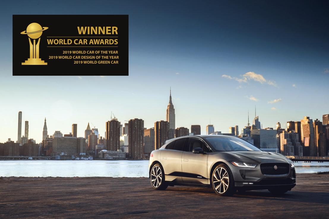 JAGUAR I-PACE VAINQUEUR SANS PRECEDENT AU 2019 WORLD CAR AWARDS