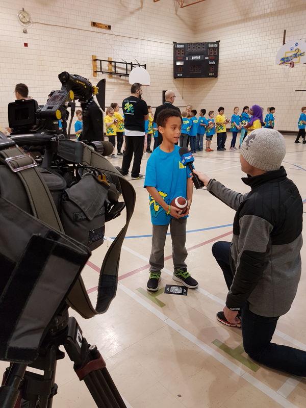 Une entrevue des plus importantes de Global Regina à l'École Centennial Community School