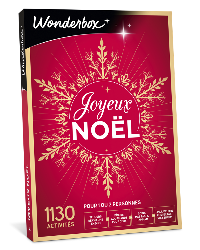 """Le coffret-cadeau """" Joyeux Noël """" de Wonderbox : du fun, du bien-être, de l'aventure, mais pas que…"""