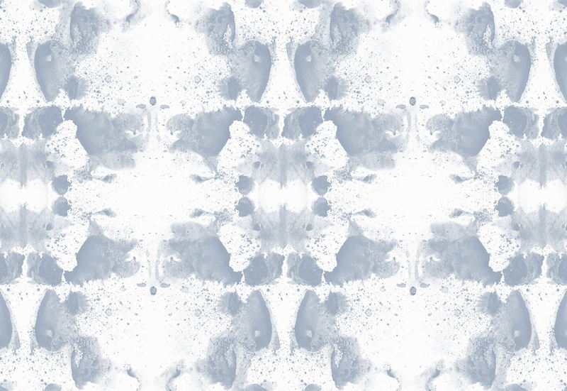 Blue and White Rorschach