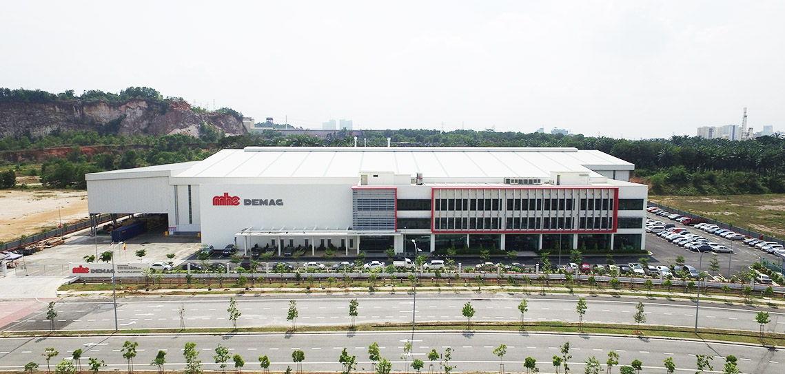 MHE-Demag's new manufacturing plant at Bukit Raja, Klang.