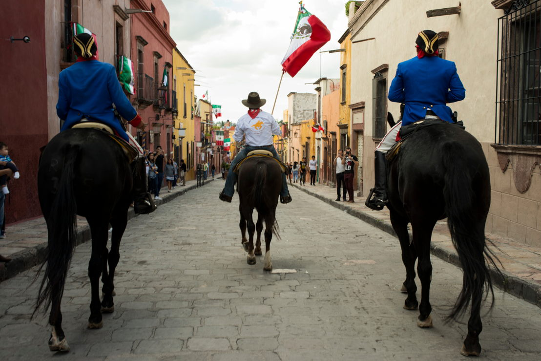 Cabalgata Histórica de los Conspiradores de Querétaro en San Miguel de Allende, México