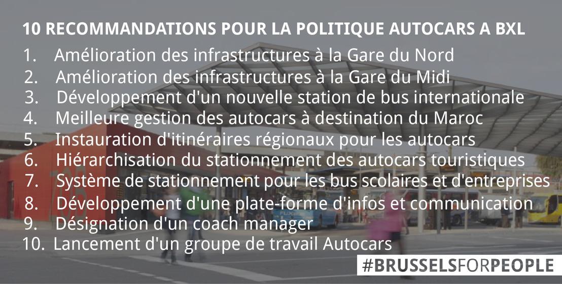 Autocars à Bruxelles: une feuille de route adoptée