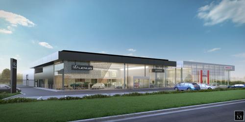 Lexus et Toyota se construisent des showrooms flambants neufs à Zaventem