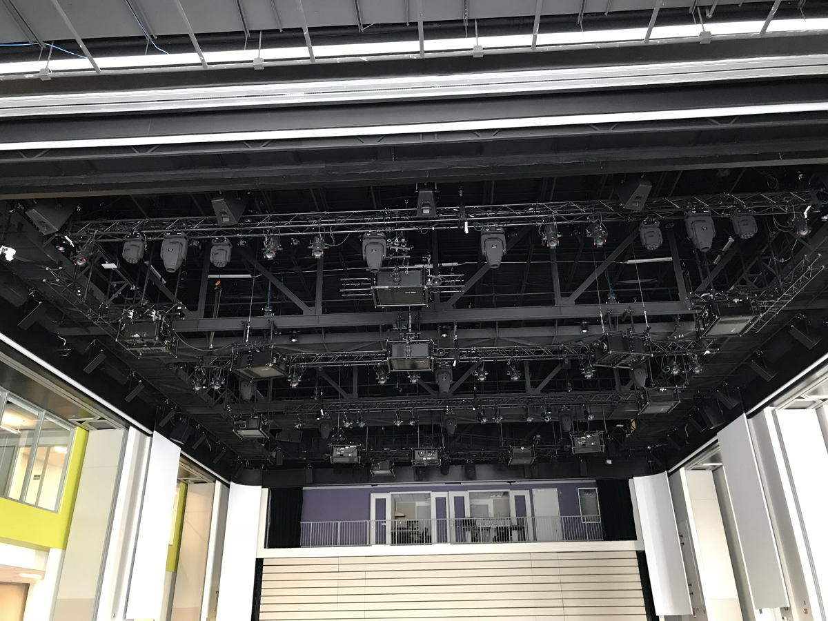 La Cité's new Excentricité building features close to 50 loudspeakers for the immersive audio experience. Digital 6000 was the microphone system of choice to keep feedback to a minimum (Image courtesy of La Cité Collégiale)