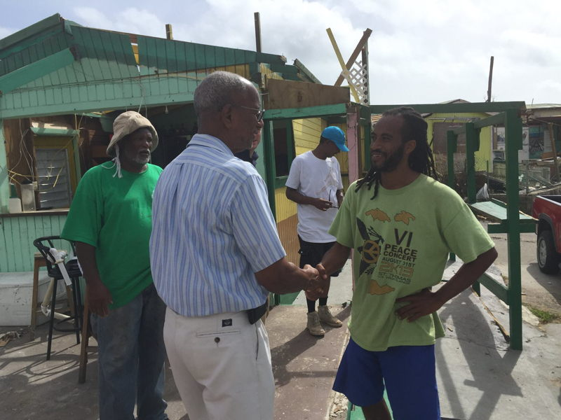 Premier Smith conducts assessment tour on Virgin Gorda.