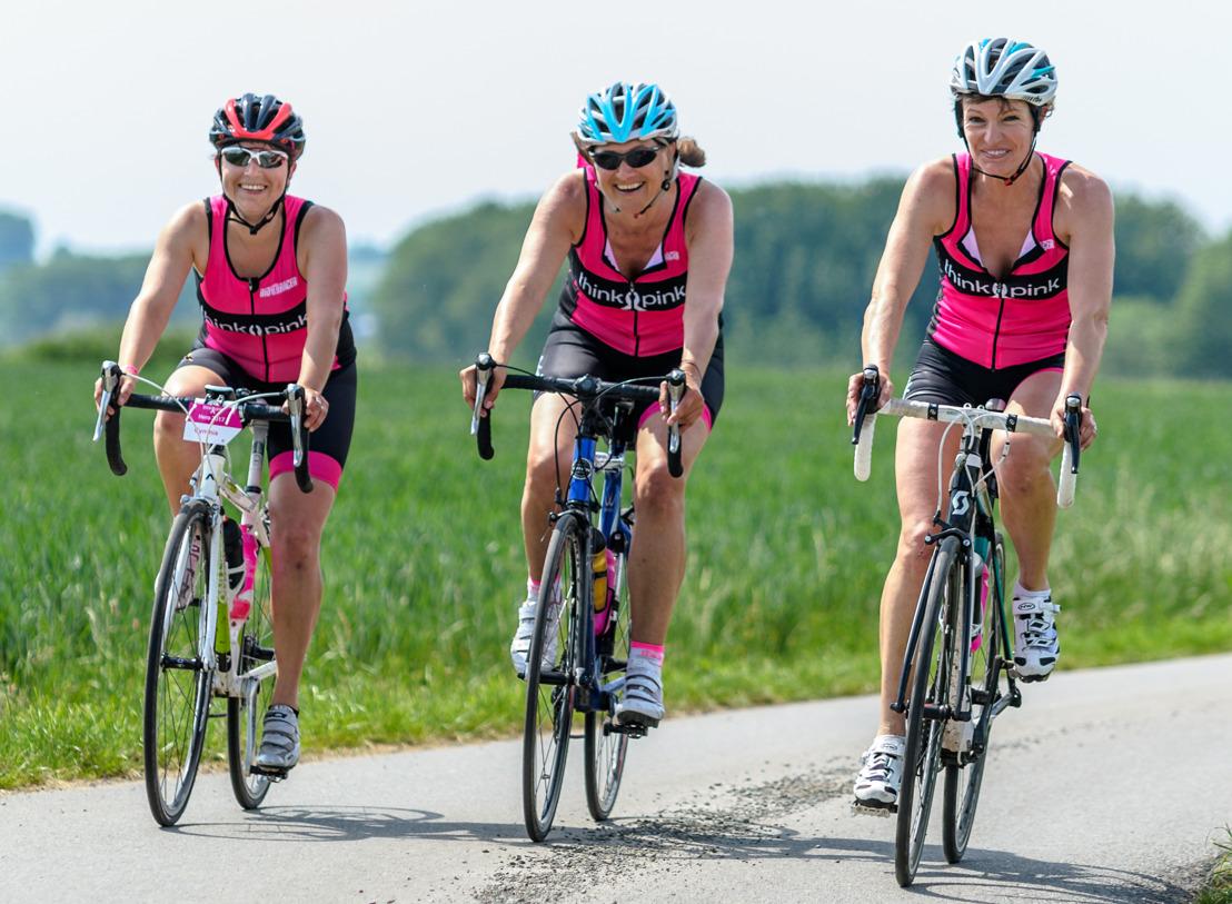 Meer dan 700 vrouwen op de koersfiets met Think Pink