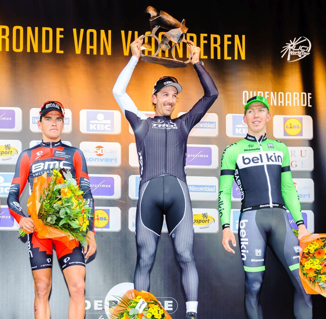 Wielertrui van Flanders Classic, gesigneerd door de top 3 van de Ronde van Vlaanderen