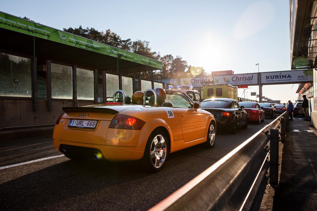 Les clients belges célèbrent les 20 ans de l'Audi TT à Zolder