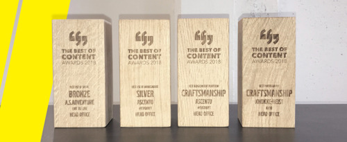 Four in a row for Head Office at the Best of Content Awards