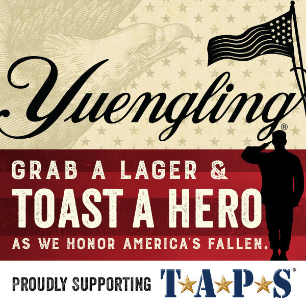 Preview: Yuengling's Lagers For Heroes Program Celebrates Two-Year Partnership With TAPS