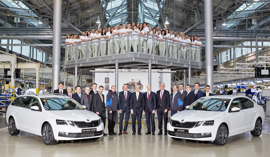 The production of the revised ŠKODA OCTAVIA was launched today. The comprehensively upgraded new edition of the brand's bestseller rolled off the production line at the main plant in Mladá Boleslav.