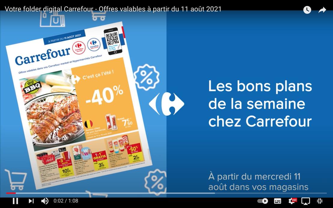Carrefour est le premier distributeur en Belgique à publier ses folders sur YouTube