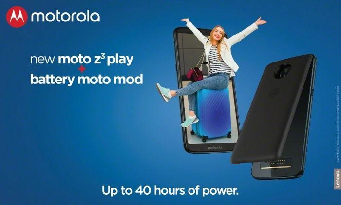Preview: Moto z3 play Power Edition vanaf vandaag verkrijgbaar in de Benelux