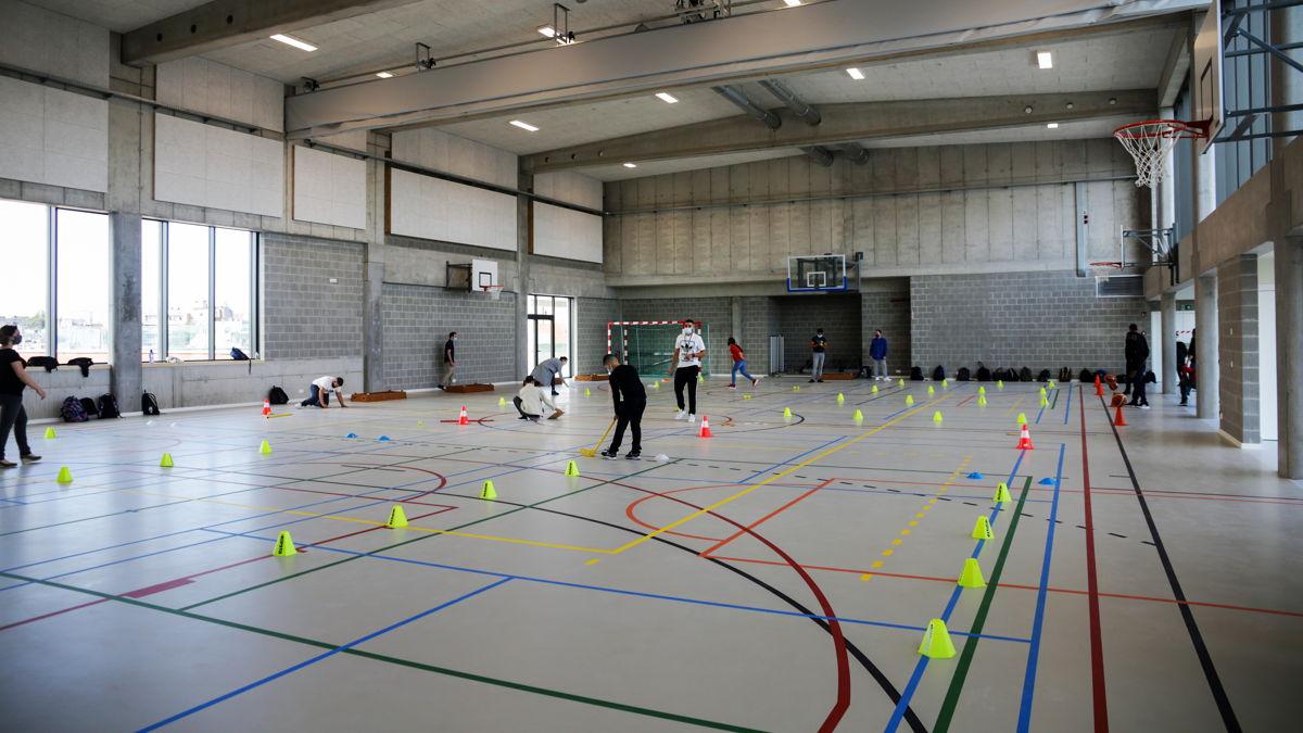 Une salle de sport du campus St.Michel