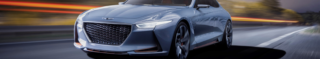 Genesis onthult hybride sportberline Concept Car op de New York Auto Show