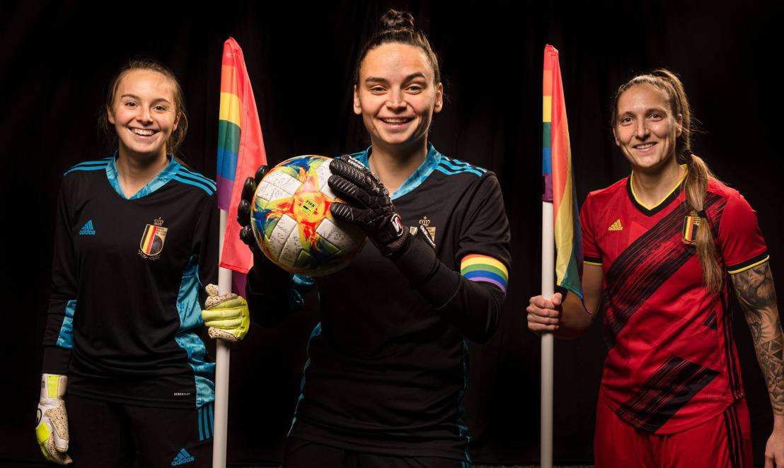 KBVB, Voetbal Vlaanderen en ACFF roepen fans en voetballers op om via regenboogkleuren op Facebook mee te strijden tegen racisme en discriminatie