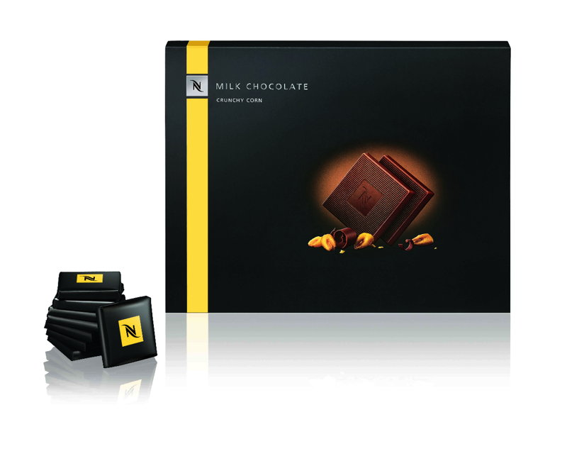 Milk Chocolate Crunchy Corn Squares (Limited Edition) - 7,50€