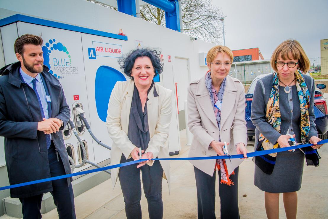 Inauguration officielle de la première station à hydrogène publique en Belgique