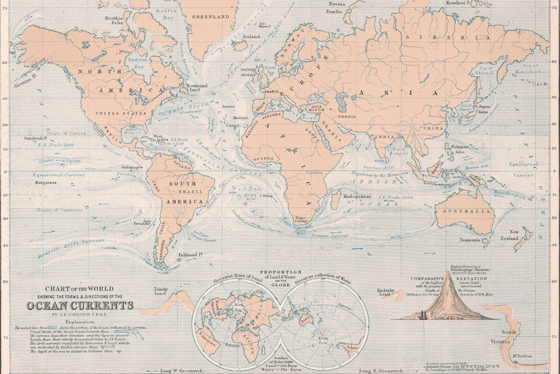 Ocean Currents World Map