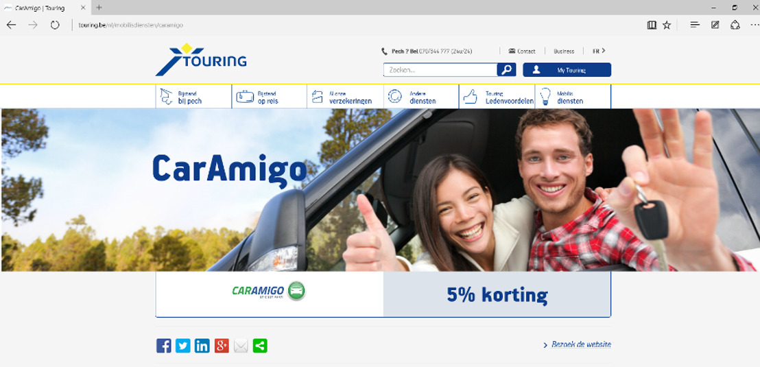 CarAmigo.be en Touring kondigen partnership aan!