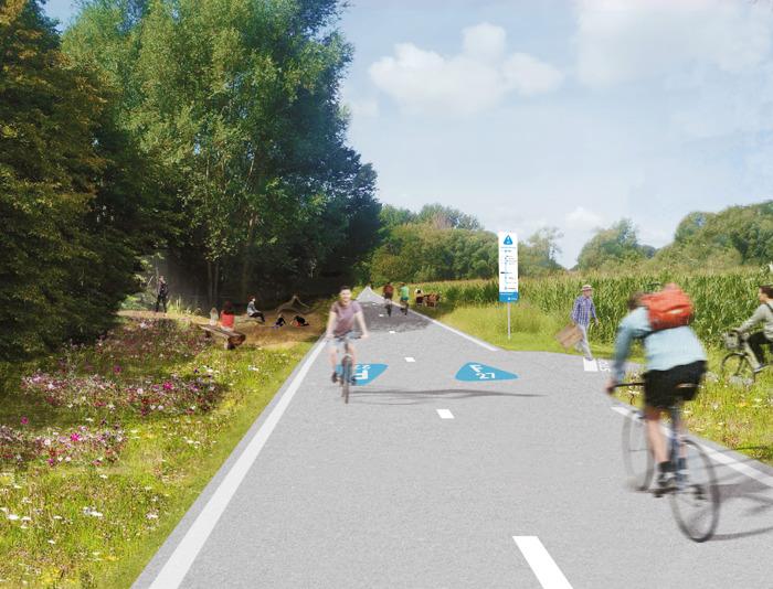 Provincie en stad Aalst maken van Leirekensroute groene fietssnelweg