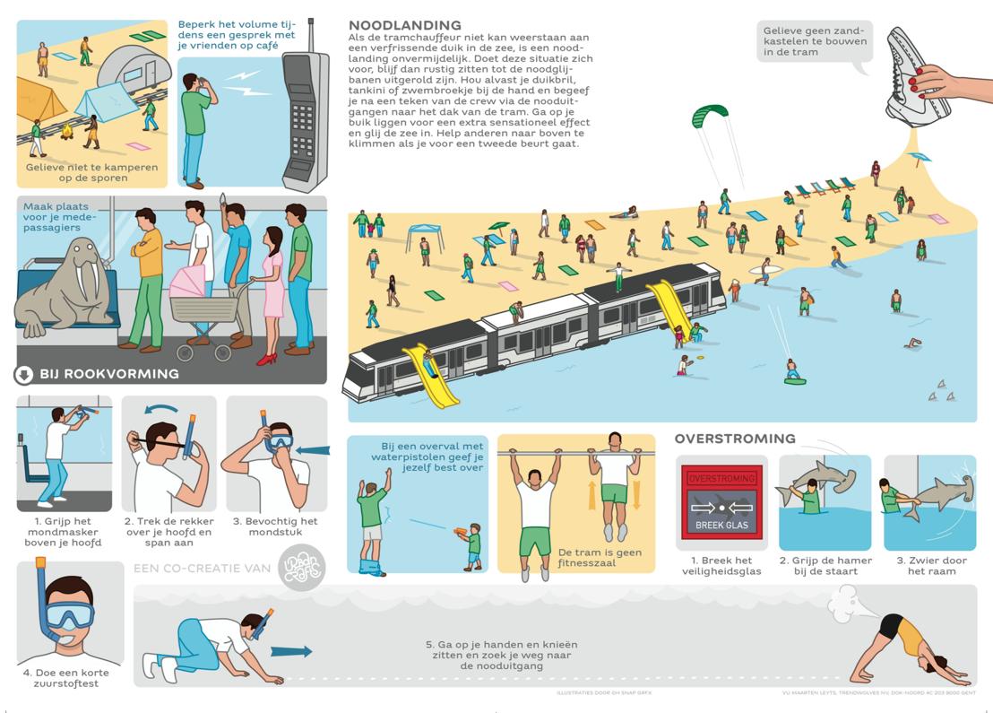 Herwerkte veiligheidsinstructies Kusttram (met wifi) - kant 2. Idee: Urban Crafts