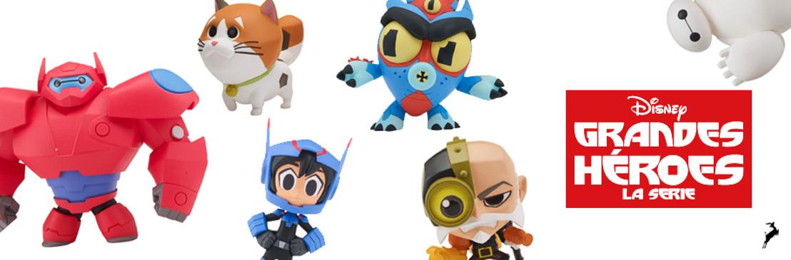 Las aventuras de Baymax están de regreso con la nueva línea de juguetes de Bandai, inspirada en Grandes Héroes: la serie, de Disney XD
