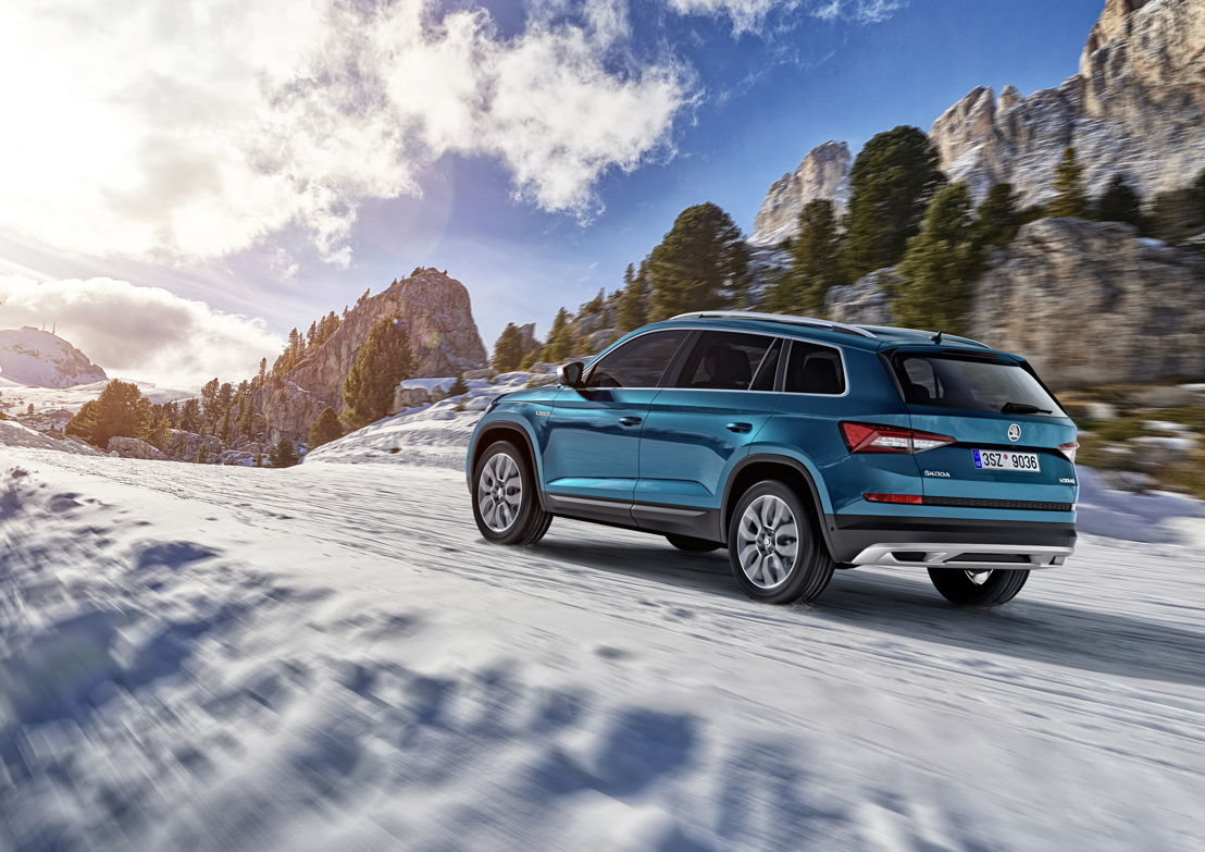 The ŠKODA KODIAQ also feels at home on off-road terrain. With a ground clearance of 194 mm, it can even negotiate larger bumps with ease.
