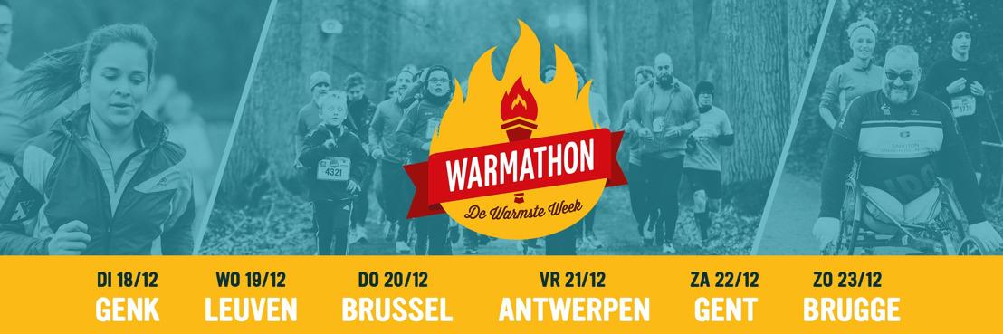 Bijna 8000 lopers aan de start van de Warmathon in Leuven