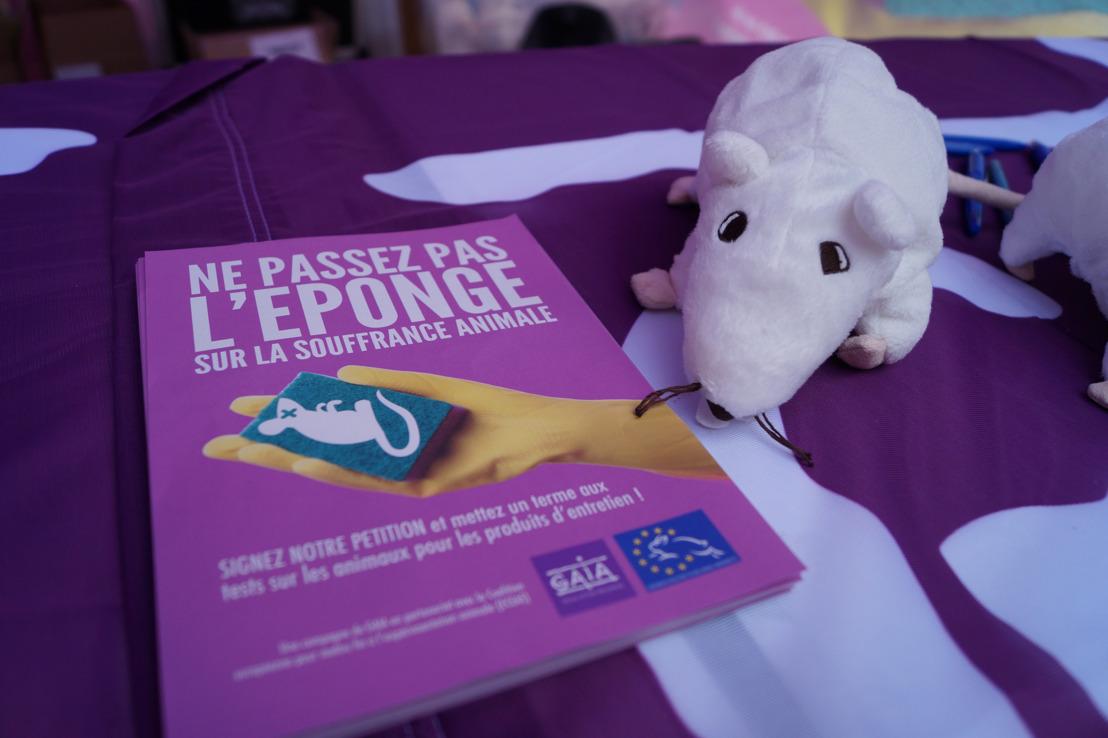 GAIA dénonce les tests sur animaux pour les produits d'entretien