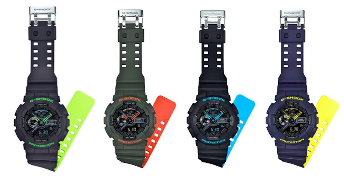 G-Shock devela su nueva serie GA110LN Layered Neon Color Series