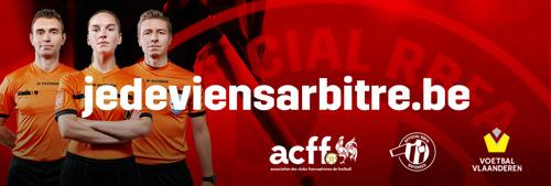 Le football belge à la recherche de 700 arbitres supplémentaires via une campagne de recrutement à grande échelle