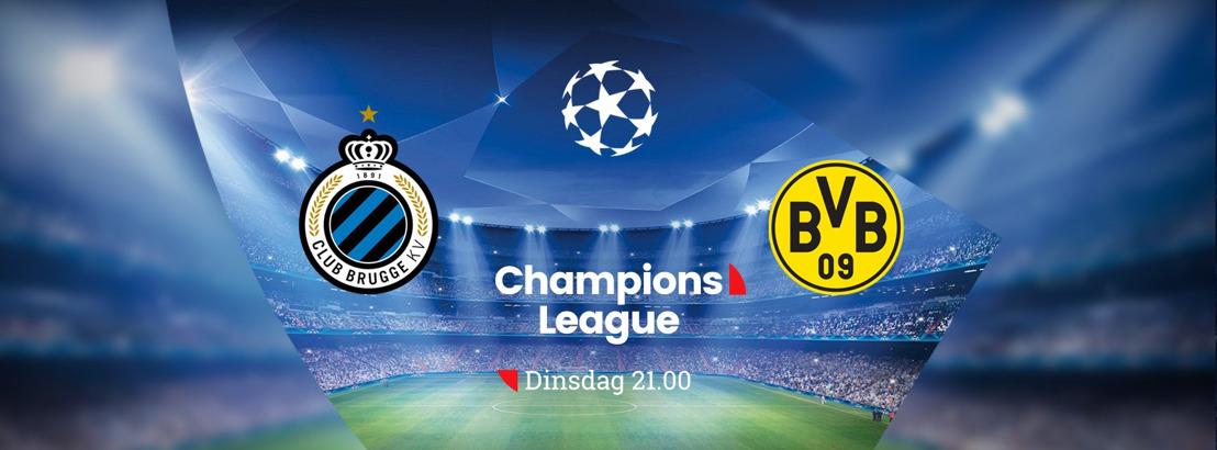 Koning voetbal regeert bij VIER: Club Brugge speelt eerste wedstrijd in de groepsfase van de Champions League tegen Borussia Dortmund