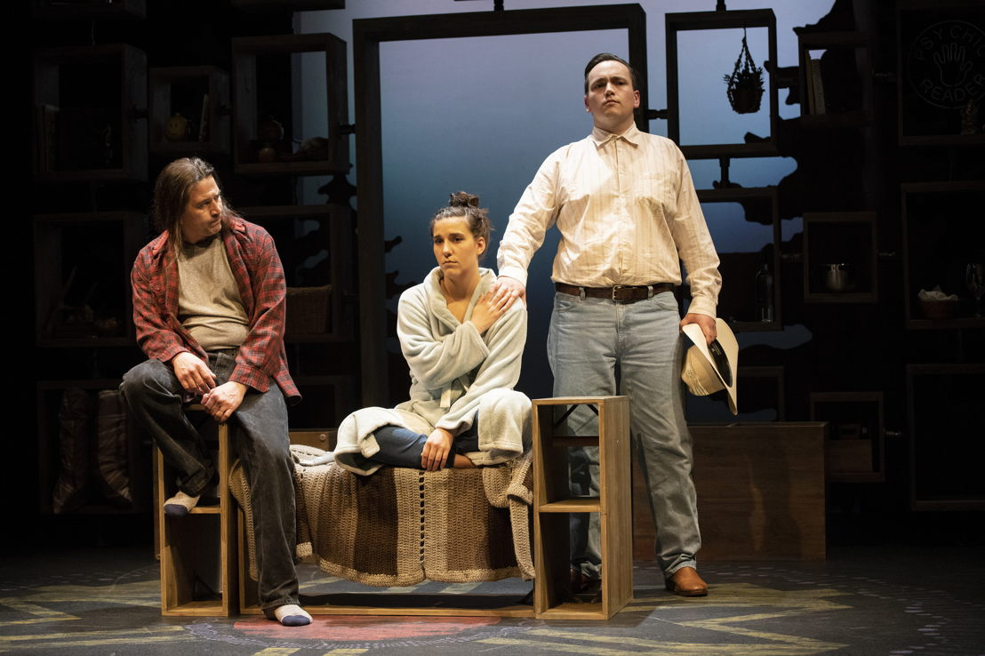 Timothy L. Hill (Dad), Dakota Ray Hebert (Salt Baby) and Colin Dingwall (Grandfather) in Salt Baby by Falen Johnson / Photos by David Cooper