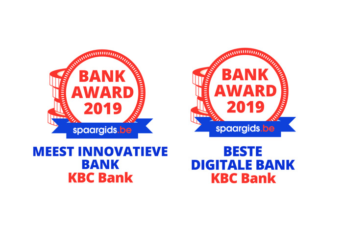 KBC Bank wins two Spaargids bank Awards