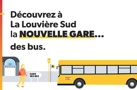Preview: NOUVELLE GARE DES BUS À LA LOUVIÈRE CE 1ER AVRIL