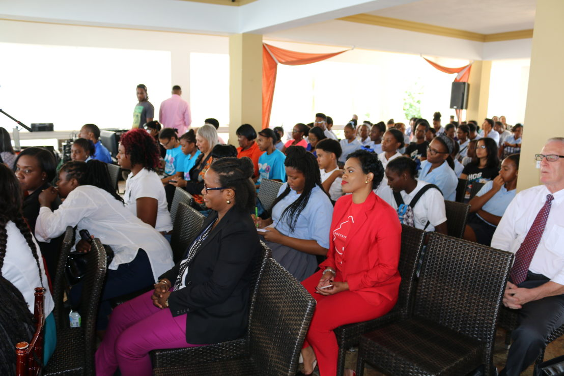 A cross-section of the audience at the Youth Forum