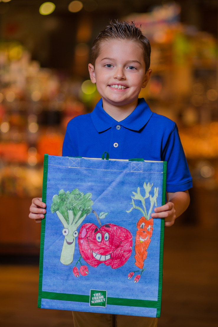 """Young Florida resident wins The Fresh Market's fourth annual """"Design Our Bag Challenge"""" benefiting No Kid Hungry®"""