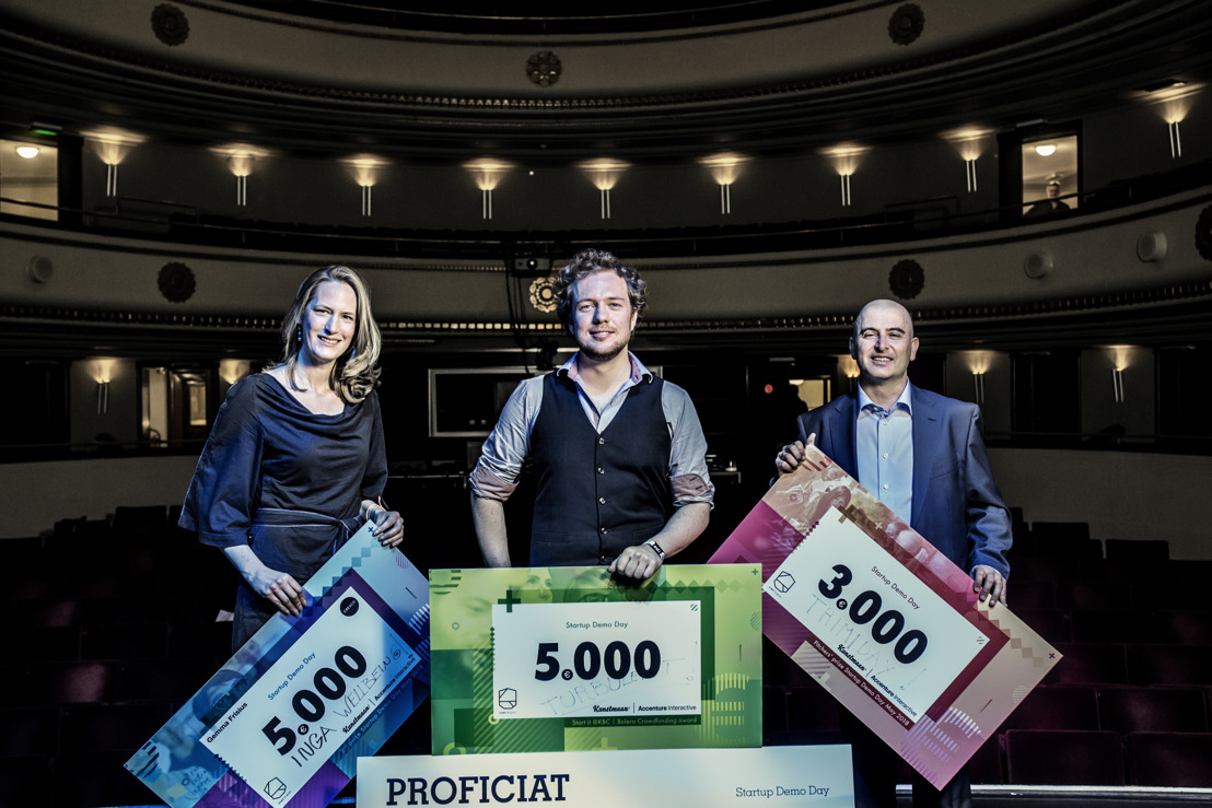 Turbulent wins Start it @KBC - Bolero Crowdfunding Award 2018 at and& summit & festival