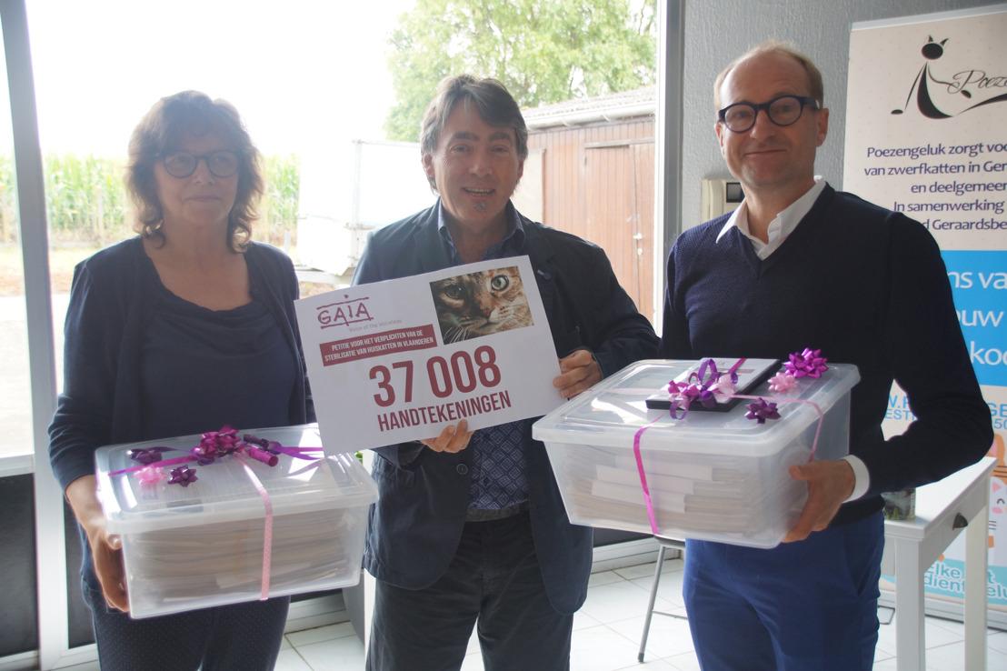37.008 handtekeningen voor verplichte kattensterilisatie in Vlaanderen