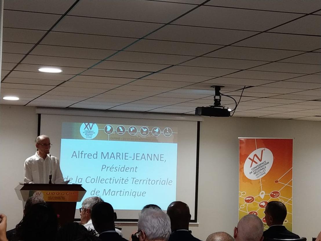 Le Président de la Collectivité territoriale de Martinique à l'ouverture de la 15ème Conférence de Coopération Régionale Antilles Guyane