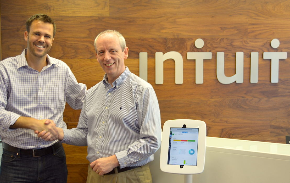 Rich Preece, Managing Director, Intuit UK and Stuart Hall, Managing Director, PaySuite