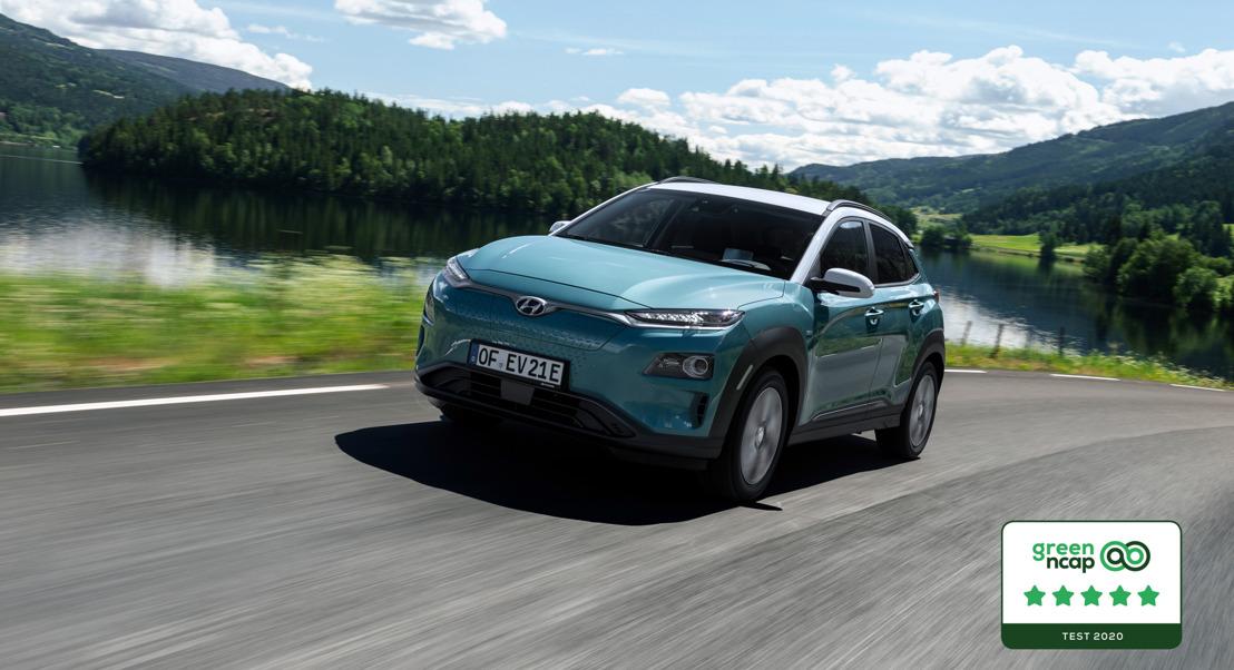 Hyundai KONA electric mit 5 Sternen im Green NCAP Test bewertet