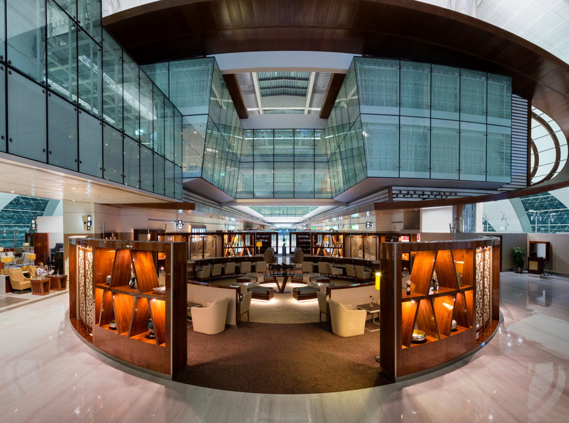 Emirates has completed a major makeover of its Business Class lounge at Concourse B of Dubai International Airport.