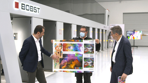 BOBST is one step ahead featuring new capabilities for converters and revealing a new gravure press
