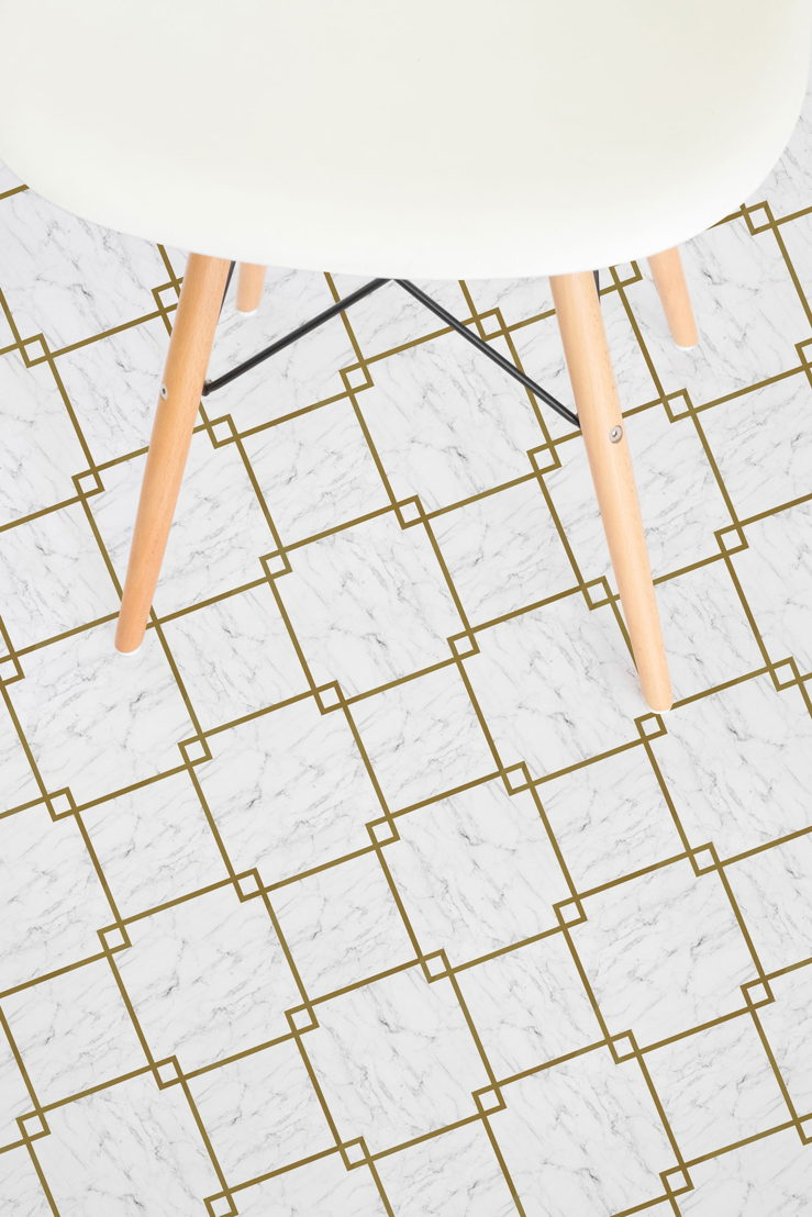 Fitzgerald |   <br/>Diamond Tile Marble Vinyl Flooring