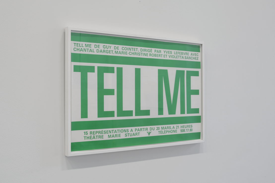 Tell Me (poster), 1979/1980 | Courtesy Centre Pompidou, Paris<br/>Musée national d'art moderne / Centre de création<br/>industrielle , foto (c) Isabelle Arthuis